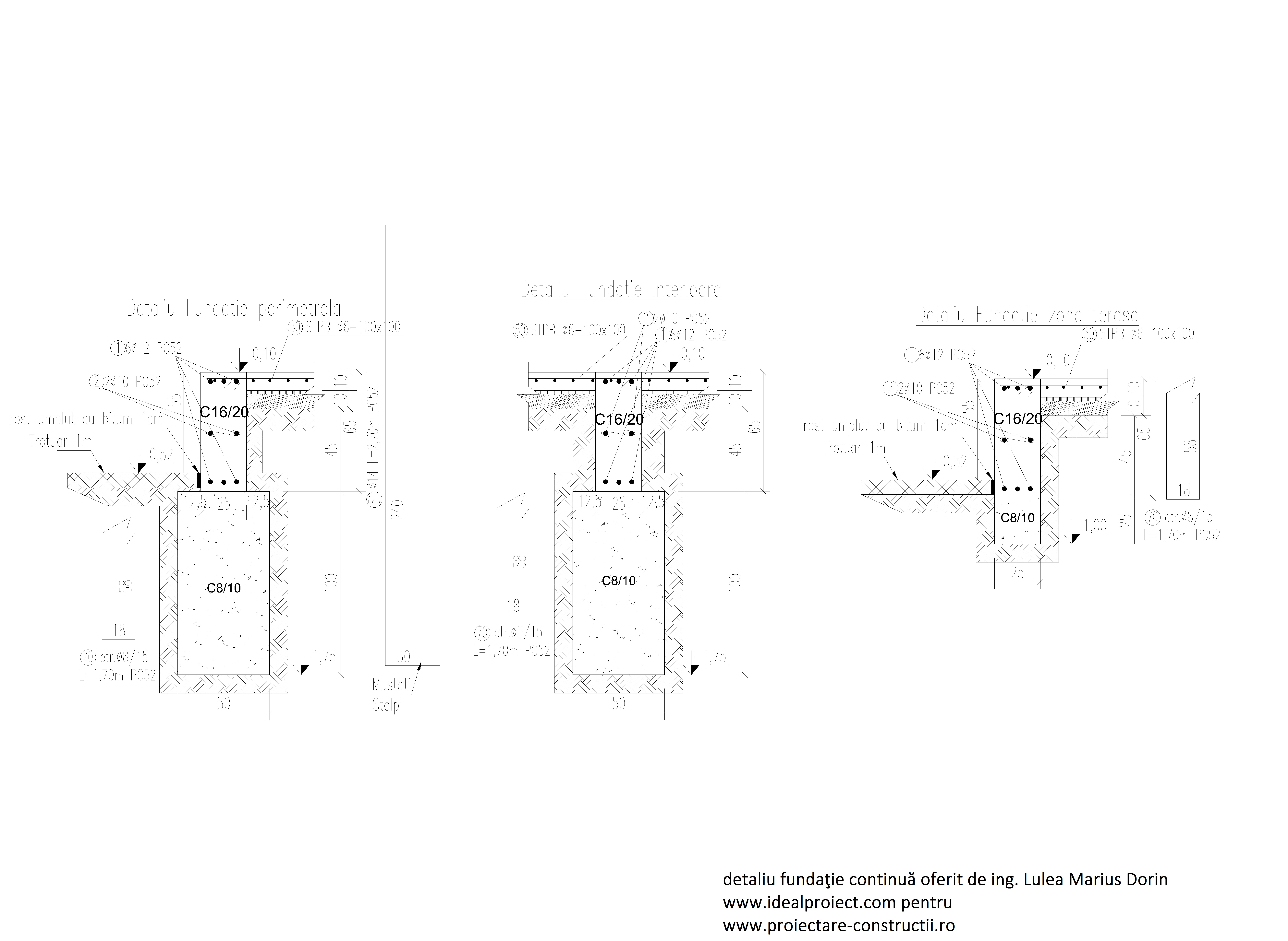 detalii fundatie continua inginer lulea marius dorin ideal proiect