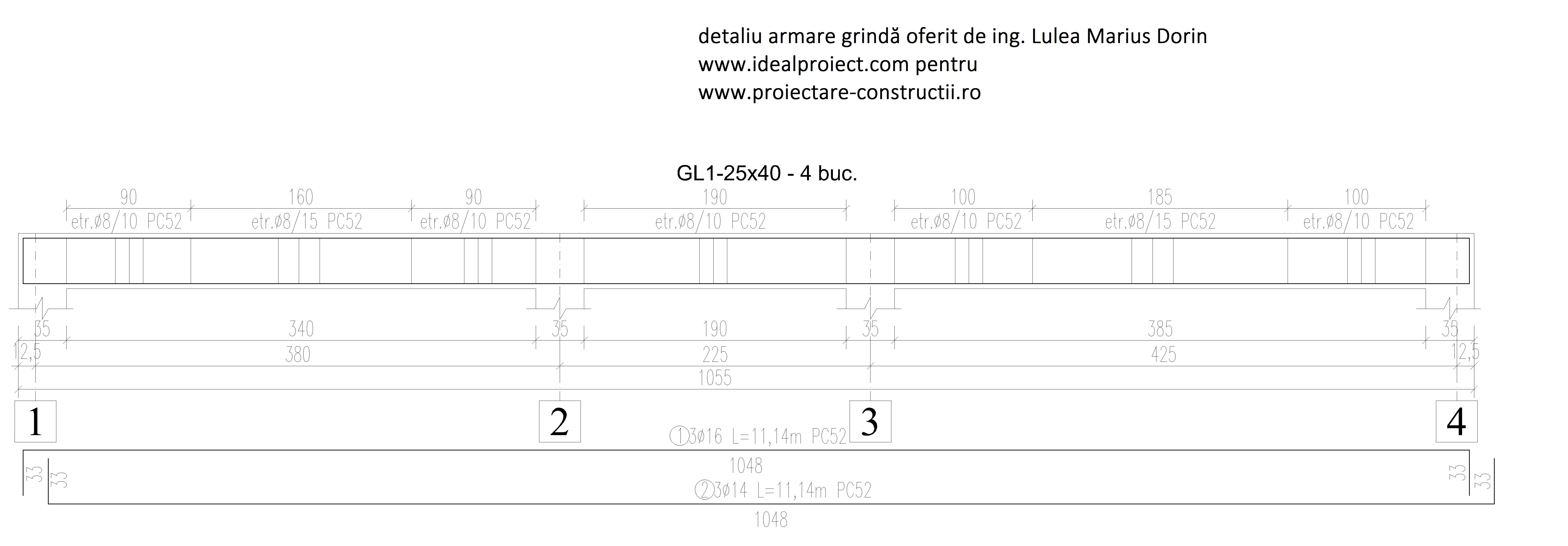 exemplu armare grinda din beton armat lulea marius dorin ideal proiect